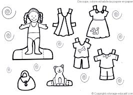 Dress Coloring Pages Clothes Kids Printables
