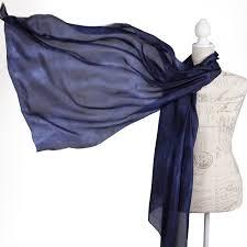 navy blue evening silk wrap midnight blue scarf for women