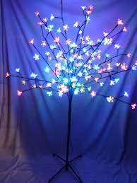 5ft Christmas Tree With Led Lights by Light Up 1 2m Multi Coloured Christmas Blossom Tree Decoration