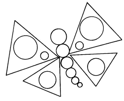 Shapes Coloring Pages Butterfly Page