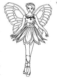 Barbie Fairy Coloring Pages 16 Page