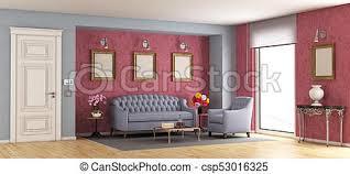 wohnzimmer klassisch lila sofa übertragung sessel