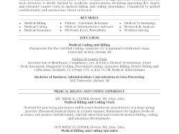 Medical Coder Resume Billing Specialist