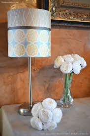 DIY Fabric Lampshade Transformation With Modern Masters Metallic Paints