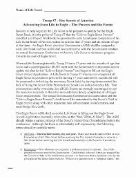 Letter Re mendation Inspirational Examples Eagle Scout