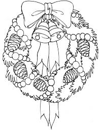 Kids Korner Free Coloring Pages Christmas Wreath