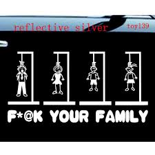 F*@! YOUR FAMILY Stick Figures Car Window Funny Vinyl Sticker Decal ... Product Gmc Truck Motsports Windshield Topper Window Decal Sticker Lovely 32 Examples Bed Decals Mbscalcutechcom Cheap Logo Find Deals On Line At 201605thearfaraliacuomustickersdetroit Buy Tire Track Mud Dirty Splash 4x4 Offroad Decal Car Van Amazoncom Stone Cold Country By The Grace Of God 8 X 6 Die Cut Got Jeep Wrangler Sticker Notebook Cool And Stickers Trucks Moose Vinyl Window Decalsticker For Or American Hooey Inspired With Flag