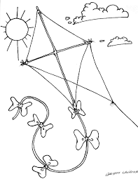 Kite Coloring Page Images Pictures Becuo