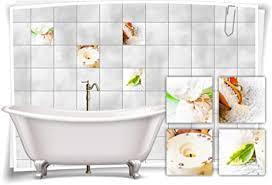 medianlux fliesen aufkleber spa wellness kerze blatt salz