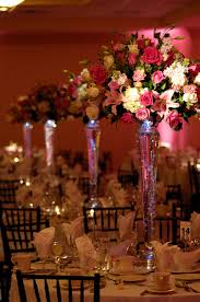 Tall Wedding Centerpieces With Colorful Roses
