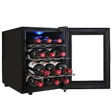 Tresanti Wine Cabinet With 24 Bottle Cooler by Spt 13 1 2 In 18 Bottle Thermoelectric Wine Cooler With Dual Zone