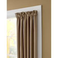 Double Traverse Curtain Rod Center Open by Kenney Eclipse Room Darkening Single Curtain Rod And Hardware Set