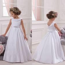 little flower girls dresses crew neckline with collar lace