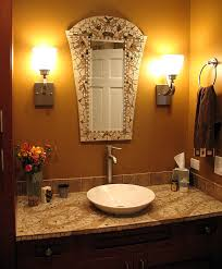 mosaic bathroom by chris zonta mirror and sink top are made of