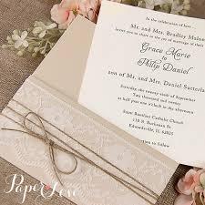 Bespoke Vintage Rustic Handmade Personalised Wedding Day Invitation