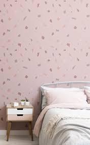 rosa und graue tapete wand hintergrund rosa schlafzimmer