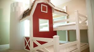 Triple Bunk Bed Plans Free by Homemade Farm Barn Triple Bunk Bed Diy Youtube