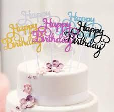 cake topper happy birthday stecker torten deko geburtstag