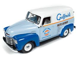 100 Chevrolet Panel Truck 118 Scale 1948 Gulf Chevy Diecast Model AW250 Free