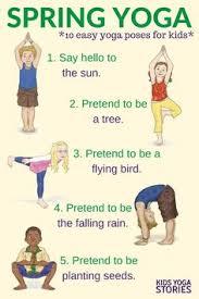 Yoga For Spring Printable Poster