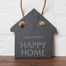 Personalised Small House Shaped Slate Keepsake