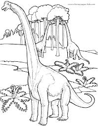 Lovely Design Ideas Printable Dinosaur Coloring Pages Dinosaurs Eating The Trees Color Page Animal