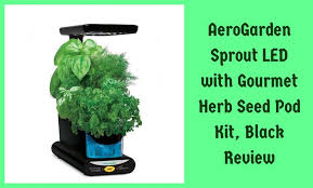 aerogarden sprout led with gourmet herb seed pod kit review