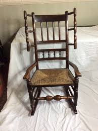 Mid 19th Century Spindle Back Rocking Chair