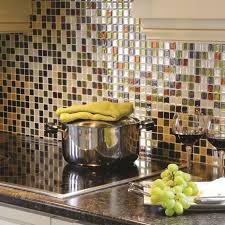Appealing Peel And Stick Mosaic Tile Backsplash With Electric Stove Delicatus Granite Countertop For Exciting