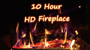 10 Hours HD Relaxing crackling logs in a fireplace Sounds for
