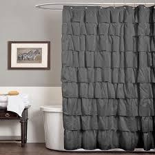 Dark Purple Ruffle Curtains by Whimsy Pretty Things Ruffle Shower Curtains