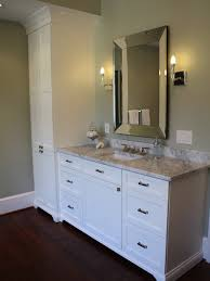 awesome bathroom vanity with linen cabinet vanity linen closet
