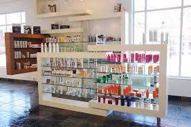 Smartness Inspiration Salon Retail Shelving Nice Ideas Woody Michleb Hair Toronto ON Canada Interior Design