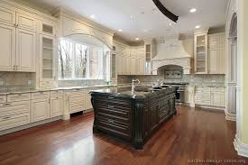 Antique White Kitchen Dark Floors