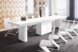 design esstisch tisch he 444 weiß hochglanz ausziehbar 160 bis 412 cm