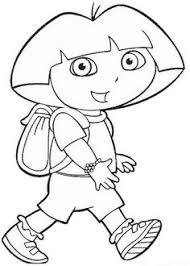 Dora The Explorer Ongoing Coloring Pages For Kids Printable