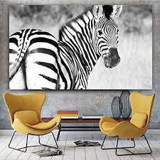 zgwxp77 leinwandbild zebra poster und tierbild wohnzimmer