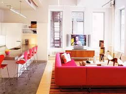 Bloombety Cute Apartment Decor With Red Chairs For Apartments
