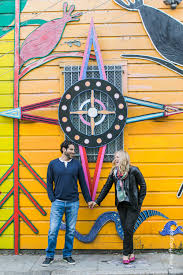 Balmy Alley Murals Mission District by Allie Mike Colorful Mural Engagement Photography San Francisco