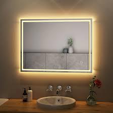 badspiegel led badezimmer mit beleuchtung spiegel bad