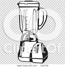 Royalty Free RF Clipart Illustration Of A Black And White Blender By David Rey 225798