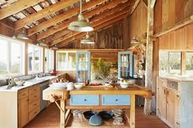 The Rustic Decor Of Farmhouse Kitchen Suited Its Rural Surroundings