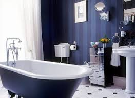Royal Blue Bathroom Decor by Blue And Brown Bathroom Wall Decor Dark Brown Lacquered Wooden