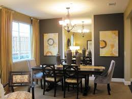 Teal And Yellow Dining Room Contemporary With Dark Wood Furniture