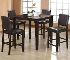 Contemporary Style 5pc Counter Height Table W/4 Side Chairs Faux Leather  Seat Back Dining Set Oakley 5piece Solid Wood Counter Height Table Set By Coaster At Dunk Bright Fniture Ferra 7 Piece Pub And Chairs Crown Mark Royal 102888 Lavon Stools East West Pubs5oakc Oak Finish Max Casual Elements Intertional Household Pubs5brnw Derick 5 Buew5mahw Top For Sets Seats Outdoor And Unfinished Dimeions Jinie 3 Pc Pub Setcounter Height 2 Kitchen