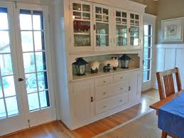Built In Dining Room Hutch With Long View Of Dining Room Shows