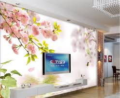 beibehang große eigene tapete wasser kirschblüte tv hintergrund wohnzimmer schlafzimmer wand dekoration
