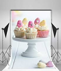 Laeacco Background 5x7ft Vinyl Photography Cupcakes Cream Table Birthday Party Decoration Sweet Lover Baby Girls