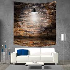 100 Brick Ceiling Amazoncom Anniutwo Wall Square Wall Tapestry Dark Cracked