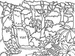 Waterfall Coloring Page Pocahontas At Within Free Printable Jungle Pages